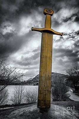 Llyn Padarn Photograph - Llanberis Sword Snowdonia by Adrian Evans