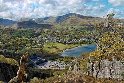 North Wales Digital Art - Llanberis Viewpoint by Chris Evans
