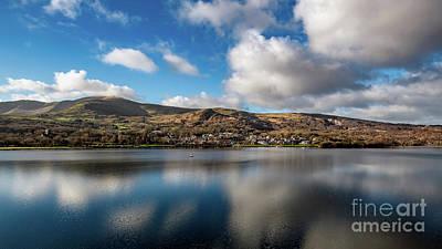 Llyn Padarn Photograph - Llanberis Village Snowdonia by Adrian Evans