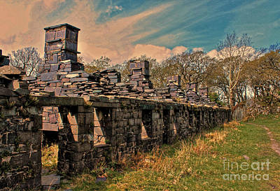 Anglesey Digital Art - Llanbers Quarry Anglesey Barracks by Chris Evans
