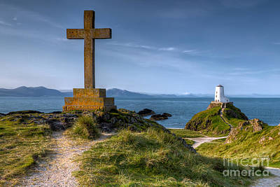 North Wales Photograph - Llanddwyn Cross by Adrian Evans