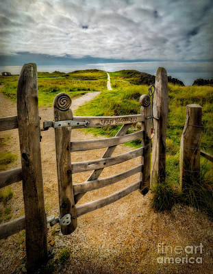 Sand Fences Photograph - Llanddwyn Island Gate by Adrian Evans