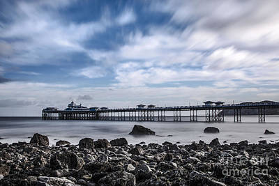 Wales Digital Art - Llandudn Pier From The Shore  by Chris Evans