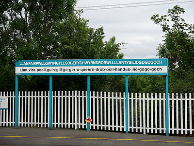 Photograph - Llanfairpwllgwyngyllgogerychwyrndrobwllllantysiliogogogoch Station Platform by Richard Reeve