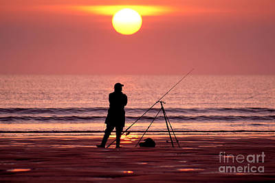 Llangennith Fishing At Sundown Art Print