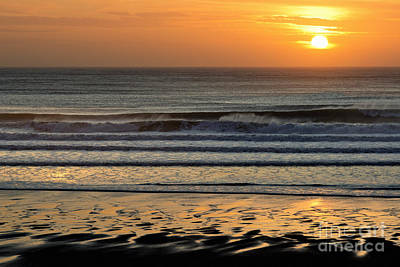 Photograph - Llangennith Gold Reflections by Minolta D