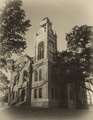 Court House Photograph - Llano County Courthouse - Vintage by Stephen Stookey