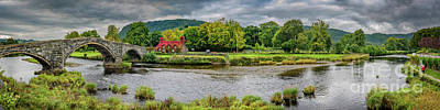 Hump Photograph - Llanrwst Bridge And Cottage by Adrian Evans