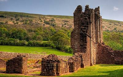 Landscapes Digital Art - Llanthony Priory by Maye Loeser