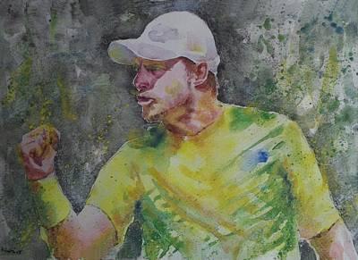 Lleyton Hewitt Painting - Lleyton Hewitt - Portrait 1 by Baresh Kebar - Kibar