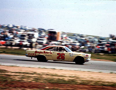 Stp Photograph - Lloyd Ruby # 26 Ford Fairlane 1967 At Riverside by David Bryant