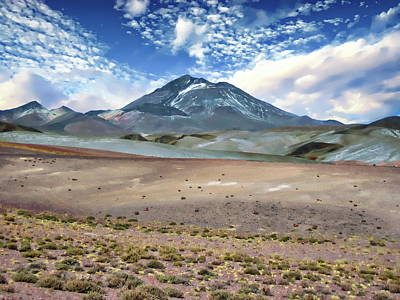Photograph - Llullaillaco Volcano by Anthony Dezenzio