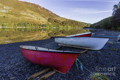 Photograph - Llyn Crafnant Boats by Ian Mitchell