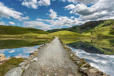 Photograph - Llyn Llydaw Causeway by Adrian Evans