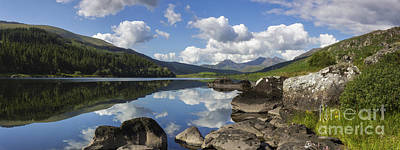 Llyn Mymbyr And Snowdon Panorama Art Print