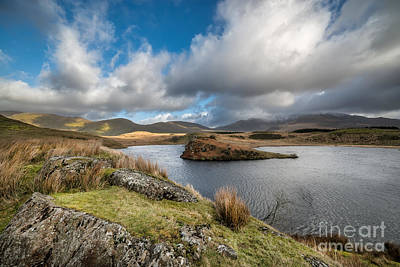 North Wales Digital Art - Llyn Y Dywarchen by Adrian Evans