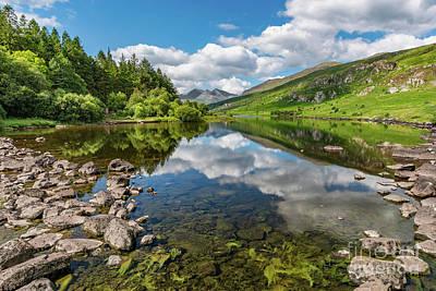 Llynnau Mymbyr Photograph - Llynnau Mymbyr Snowdonia by Adrian Evans