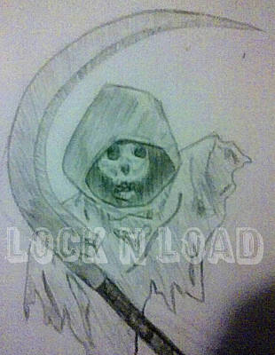 Drawing - Lnl Reaper Specter by Crystal Hubbard