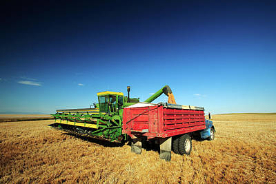 Machinery Photograph - Load Of Wheat by Todd Klassy