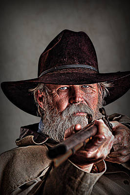 Cowboy Hat Photograph - Loaded And Ready by Tommy Simpson