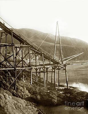 Photograph - Loading Chute At Bixby Landing And Creek Circa 1885 by California Views Mr Pat Hathaway Archives