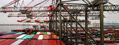 Photograph - Loading Containership by M G Whittingham
