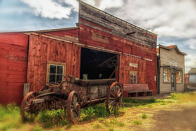 Ghostly Barn Photograph - Loading Zone by Marnie Patchett