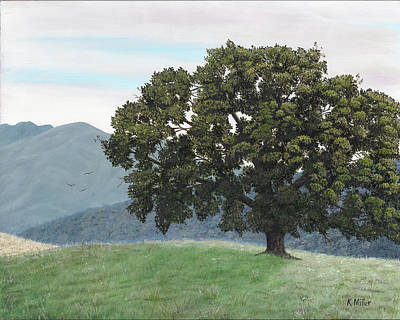Painting - Lone Oak by Kathie Miller
