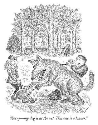 Drawing - Loaner Dog by Edward Koren