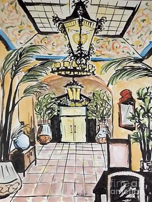 Painting - Lobby by Maria Langgle