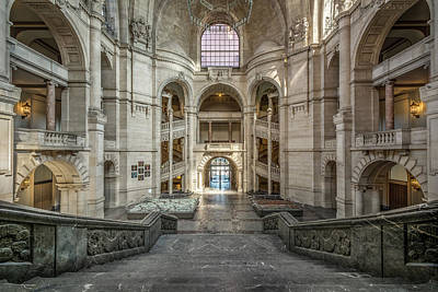 Photograph -  Lobby Of The New Town Hall In Hanover by Raycer