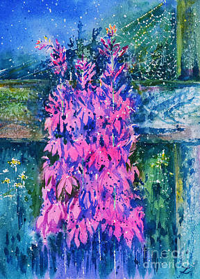 Painting - Lobelias In The Old Garden by Zaira Dzhaubaeva
