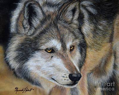 Painting - Lobo by Amanda Hukill