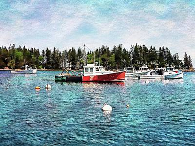 Digital Art - Lobster By Night - Sleep By Day - Camden Maine by Joseph Hendrix