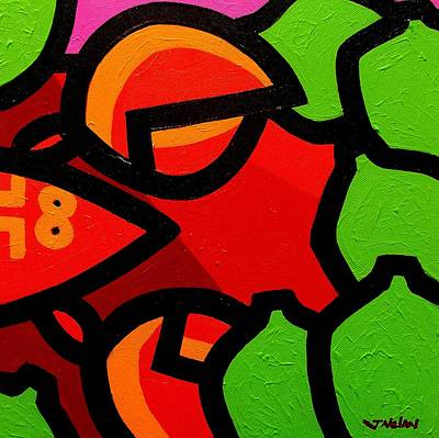 Lime Painting - Lobster And 7 Limes by John  Nolan