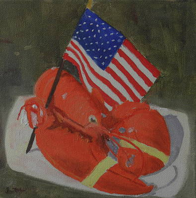 Painting - Lobster And Fourth Of July by Scott W White