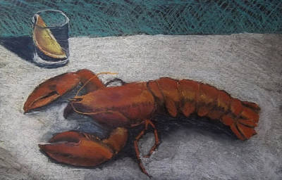 Lobster  Art Print by Becky Chappell