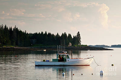 Photograph - Lobster Boat Anchored In Port Clyde, Maine #8537 by John Bald
