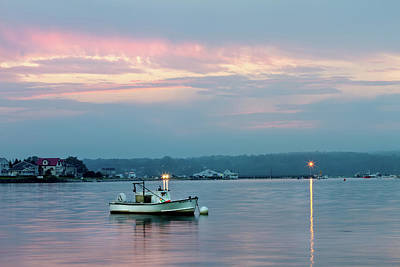 Photograph - Lobster Boat At Dusk by Ed Fletcher