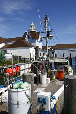 Photograph - Lobster Boat At Gosman's Dock Montauk by Christopher Kirby