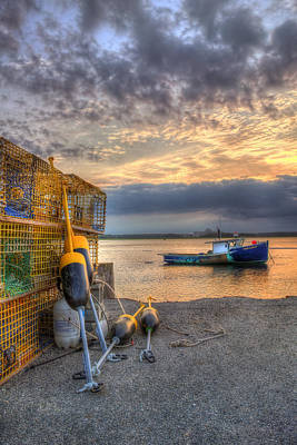 Lobster Boat At Sunset - Seabrook Nh Art Print by Joann Vitali