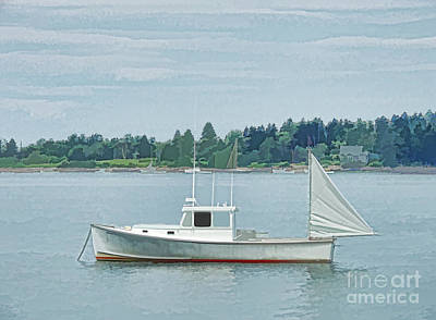 Photograph - Lobster Boat Harpswell Maine by Patrick Fennell