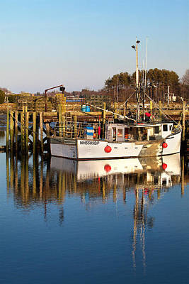 Lobster Boat Reflections Art Print by Eric Gendron