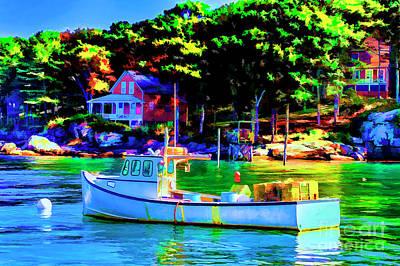 Photograph - Lobster Boat Rockport by Rick Bragan
