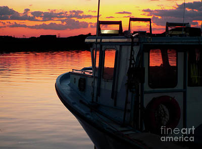 Photograph - Lobster Boat Sunset by Patricia L Davidson