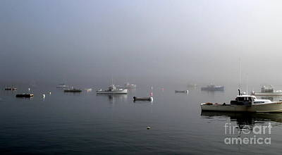 Photograph - Lobster Boats In The Morning Mist by Lennie Malvone