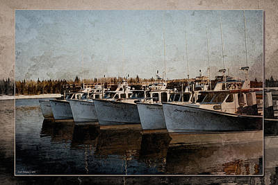 Photograph - Lobster Boats by WB Johnston