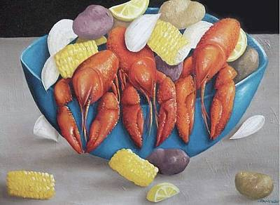 New Orleans Picnic Painting - Lobster Boil by Pamela Pantuso