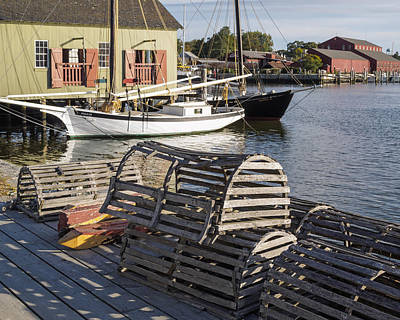 Photograph - Lobster Boxes Mystic Seaport by Marianne Campolongo