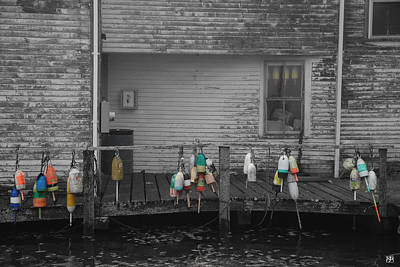 Photograph - Lobster Buoys At The Wharf by John Meader
